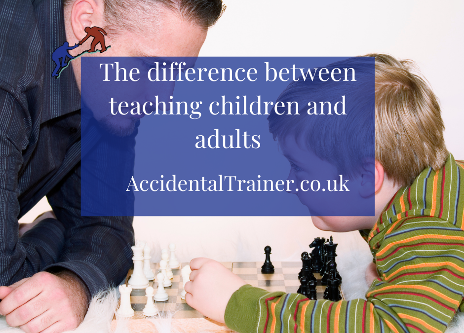 The difference between teaching children and adults